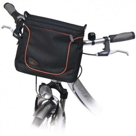 Sacoche de guidon Allegra Fashion KLICKfix Noir sur vélo
