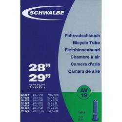 """Chambre à Air 27,5 - 28 et 29"""" SCHWALBE AV19 - Valve Schrader"""