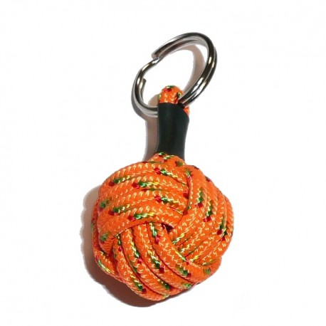 "Porte clés ""Pomme de Touline"" orange fabrication TWEEZBIKE"