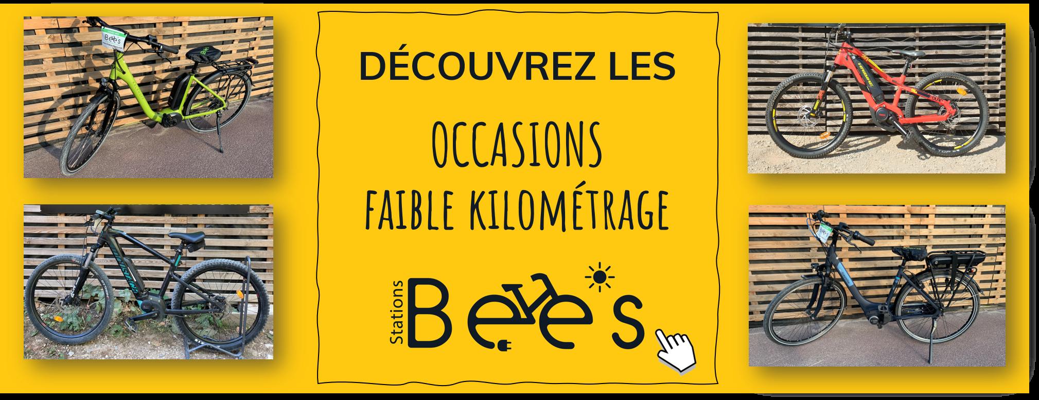 Les vélos électriques occasion faibles kilométrages du réseau Stations Bee's