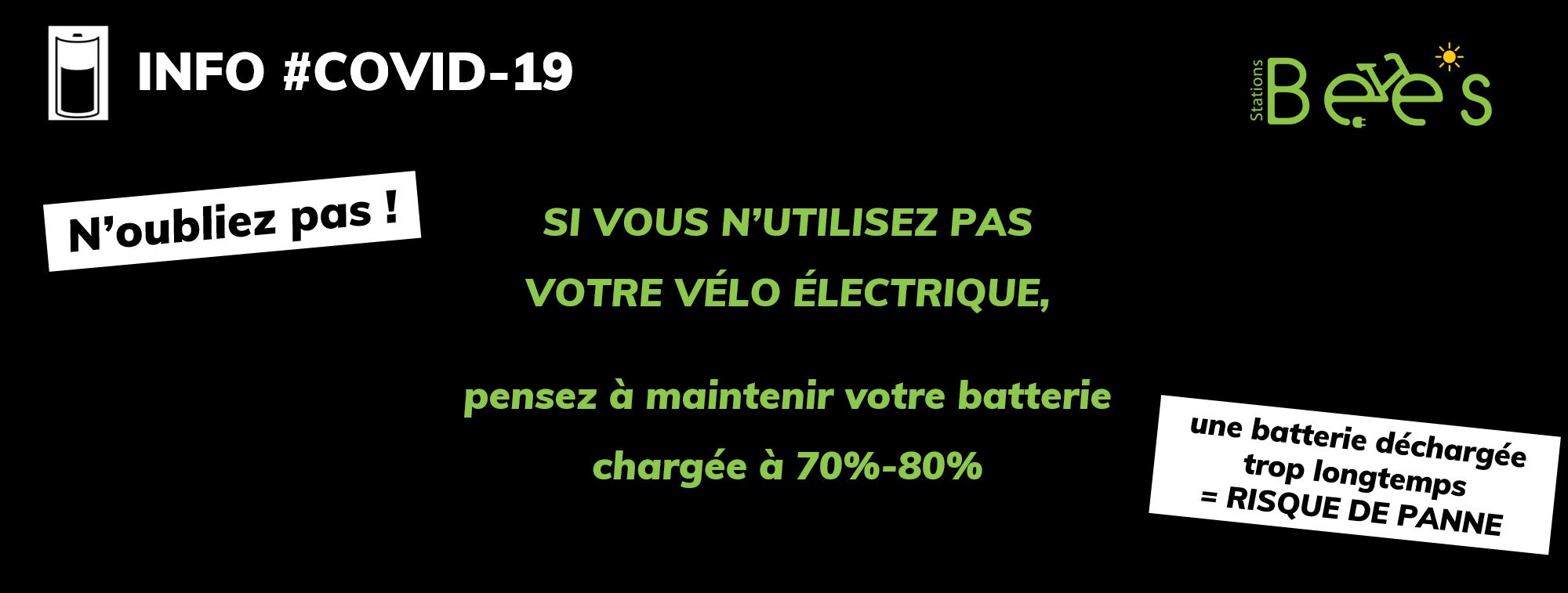 Maintenez votre batterie branchée